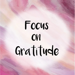 Focus on gratitude message over purple painted background